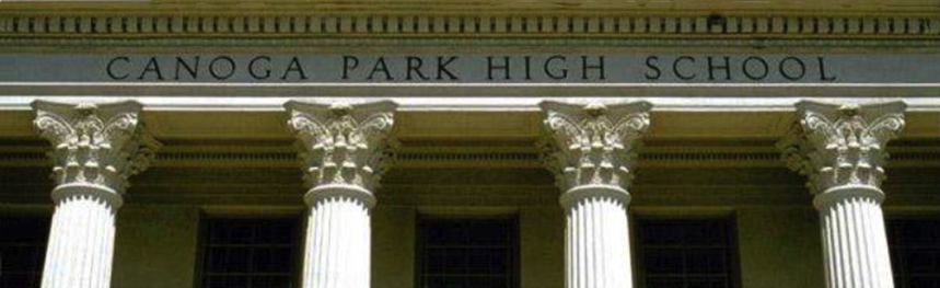 Canoga Park High School Columns Photogrraph